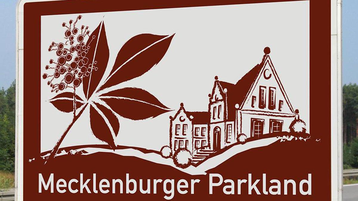 Autobahnschild, Mecklenburger ParkLand