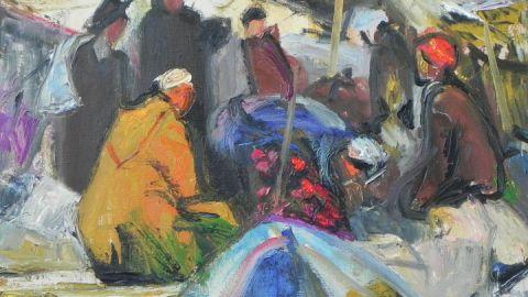 Händler in Had Draa (Marokko)