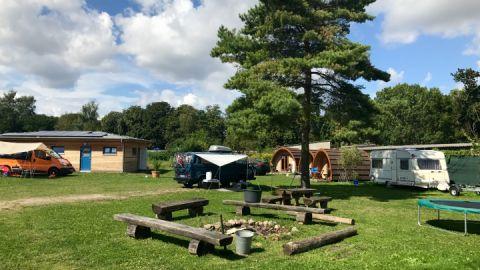 Campingplatz mit Kanustation