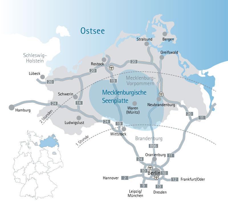 Anreise Mit Dem Auto Mecklenburgische Seenplatte