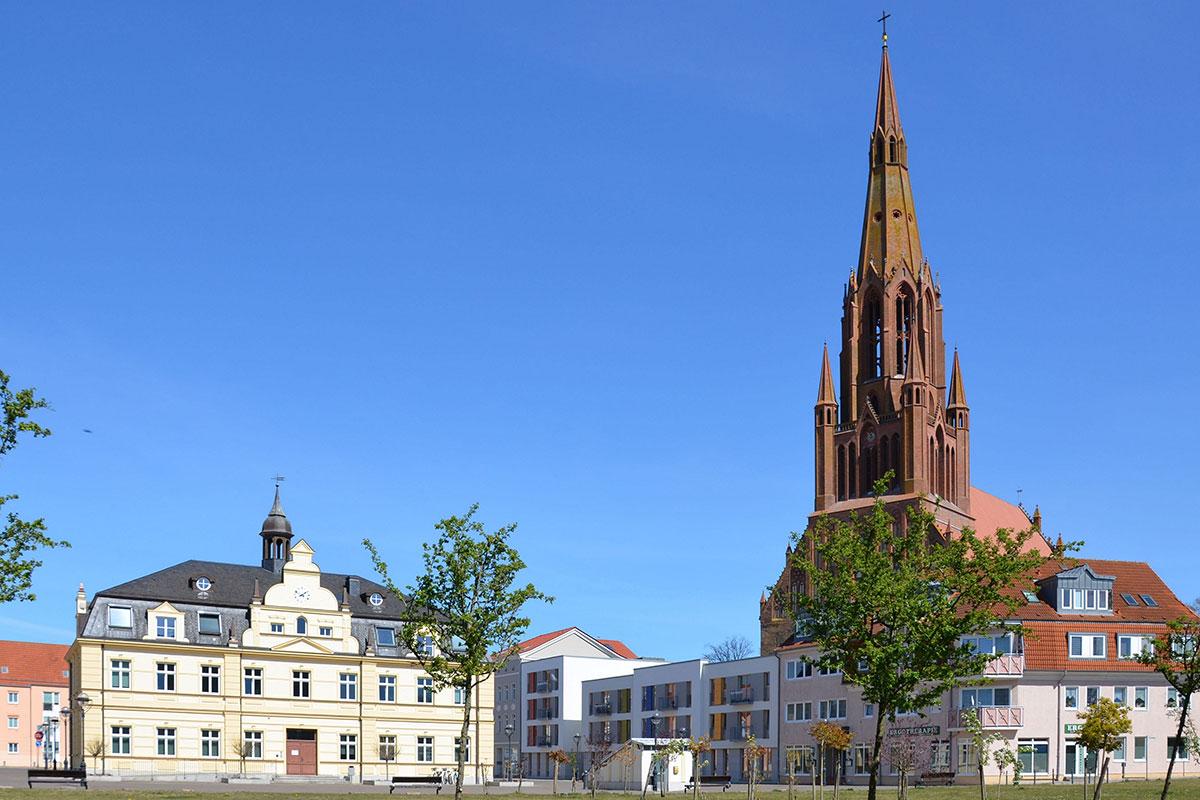 Rathaus und St. Bartholomaei-Kirche, Hansestadt Demmin