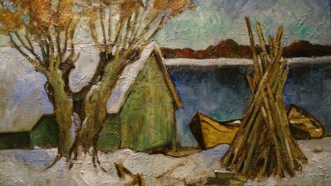 Boothaus im Winter