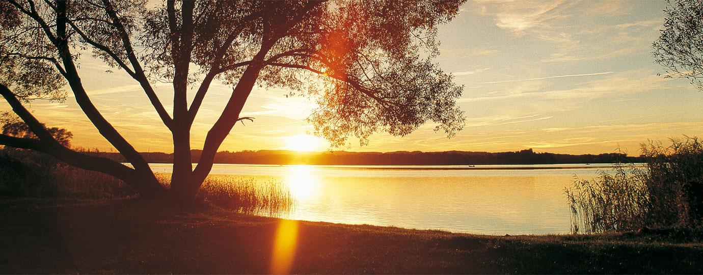 Sonnenuntergang am Teterower See, Mecklenburgische Schweiz